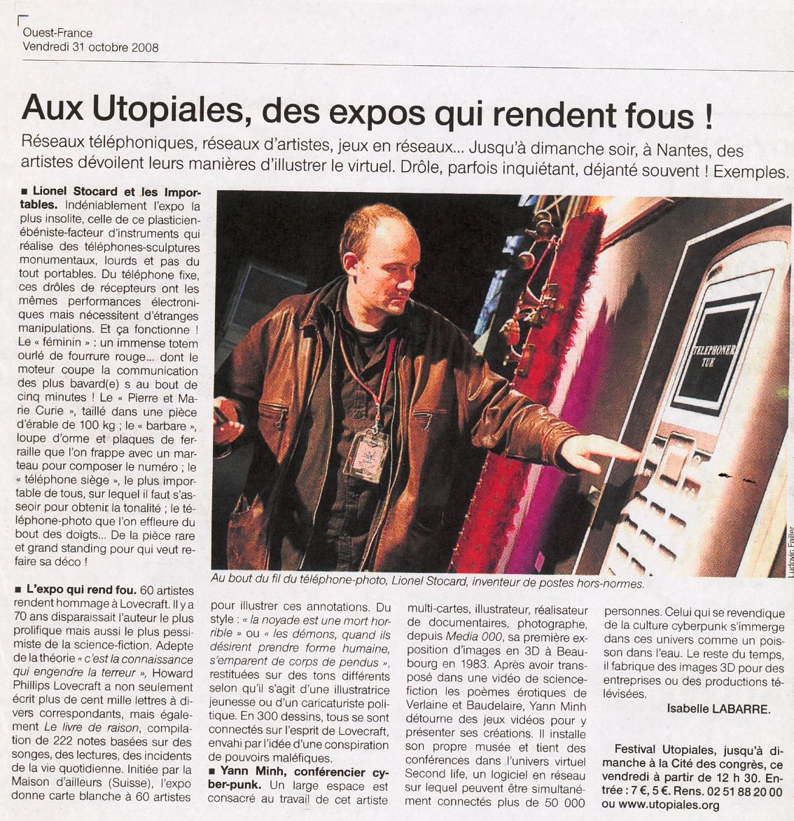 utopiales 2 ouest france